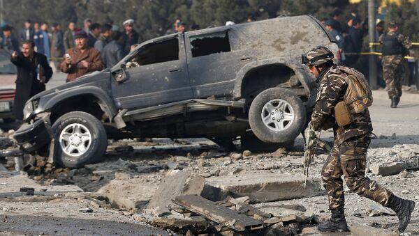 ავღანეთის პოლიცია ქაბულში აფეთქების ადგილს ათვალიერებს - Sputnik საქართველო
