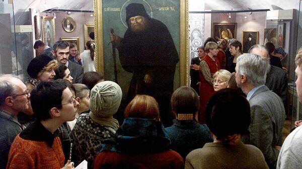 На выставке Преподобный Серафим Саровский в Москве - Sputnik Грузия