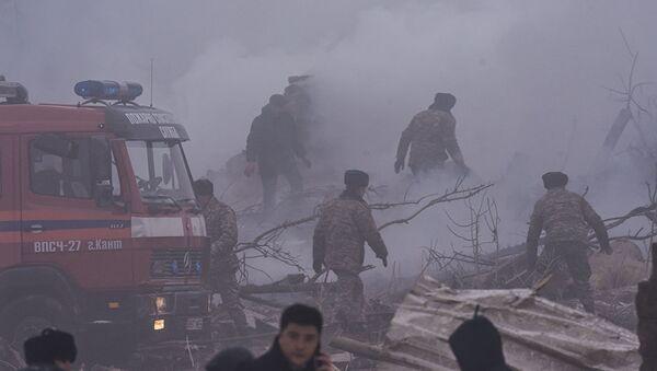 Пожар на месте падения грузового самолета под Бишкеком тушили 16 пожарных расчетов. - Sputnik Грузия