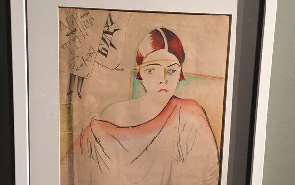 Картина Константина Зданевича Портрет жены Валерии - Sputnik Грузия