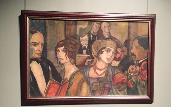 Картина Сергея Судейкина В тифлисском кафе - Sputnik Грузия