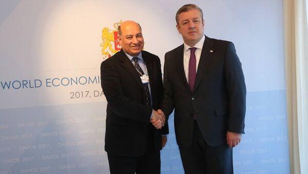 Встреча премьера Грузии Георгия Квирикашвили с главой ЕБРР Сумой Чакрабарти - Sputnik Грузия