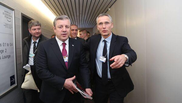 Премьер-министр Грузии Георгий Квирикашвили и генсек НАТО Йенс Столтенберг - Sputnik Грузия