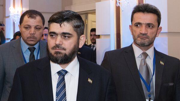 Глава делегации сирийской оппозиции Мухаммед Аллуш из группировки Джейш аль-Ислам - Sputnik Грузия