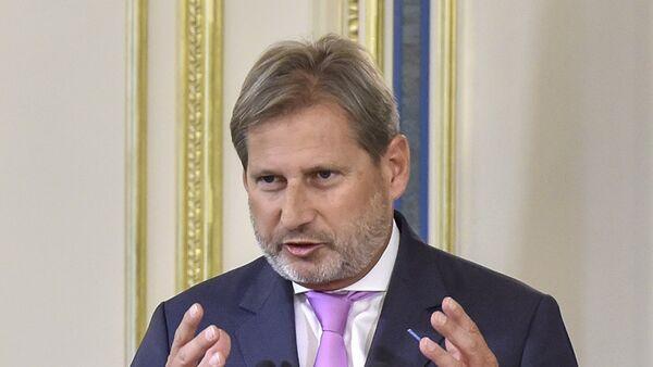 Комиссар ЕС по вопросам европейской политики соседства, расширения и переговоров Йоханнес Хан - Sputnik Грузия