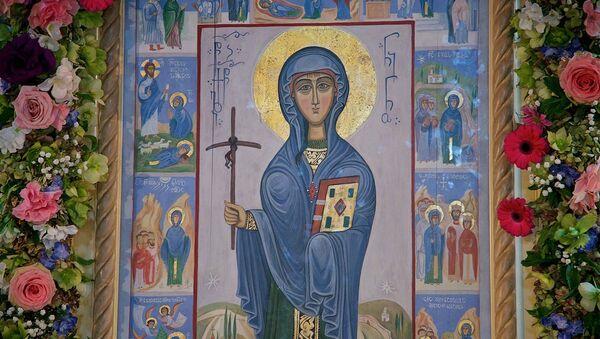 Икона Святой Нино в Бодбийском монастыре в Восточной Грузии - Sputnik Грузия