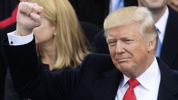 Президент США Дональд Трамп на церемонии инаугурации - Sputnik Грузия