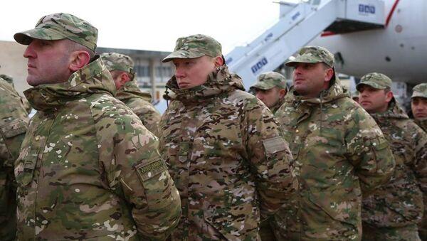 Грузинских военных проводили в ЦАР - Sputnik Грузия