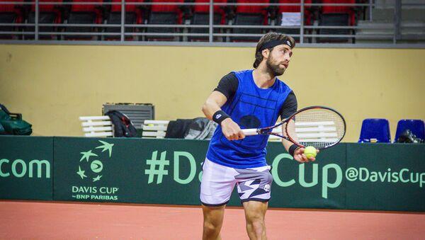 Теннисист Николоз Басилашвили - Sputnik Грузия