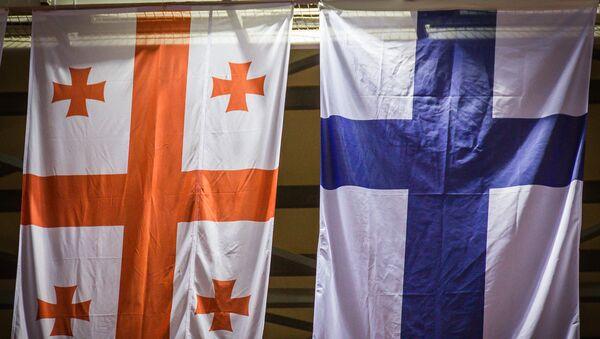 Флаги Грузии и Финляндии - Sputnik Грузия