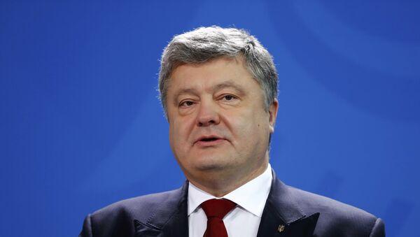 Президент Украины Петр Порошенко выступает на конференции в Берлине - Sputnik Грузия