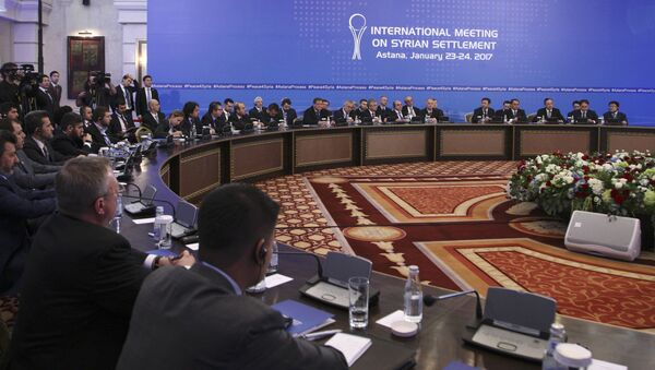 Участники переговоров по сирийскому урегулированию в Астане - Sputnik Грузия