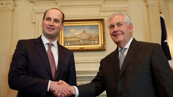 Госсекретарь США Рекс Тиллерсон и Министр иностранных дел Грузии Михаил Джанелидзе на встрече в Вашингтоне, США - Sputnik Грузия