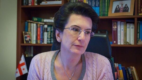 Лидер партии Демократическое движение - Единая Грузия Нино Бурджанадзе - Sputnik Грузия