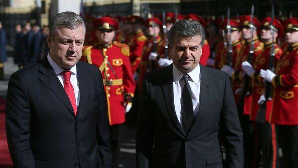 საქართველოს და სომხეთის პრემიერ-მინისტრები - Sputnik საქართველო
