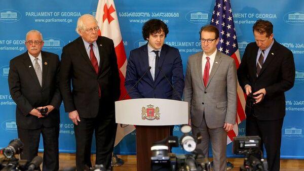 ირაკლი კობახიძე და აშშ-ის კონგრესმენები - Sputnik საქართველო