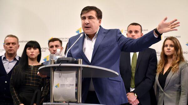 Бывший президент Грузии Михаил Саакашвили в Киеве - Sputnik Грузия