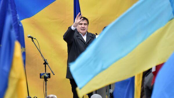 Бывший президент Грузии Михаил Саакашвили на митинге своих сторонников в Киеве - Sputnik Грузия