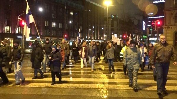 Антимигрантская акция в Хельсинки - Sputnik Грузия
