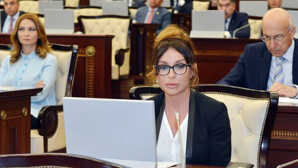 Мехрибан Алиева в парламенте Азербайджана, фото из архива - Sputnik Грузия