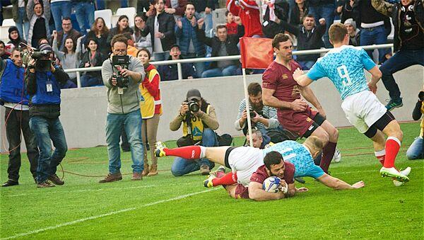 Матч по регби между сборными Грузии и России, который завершился со счетом 28:14 - Sputnik Грузия