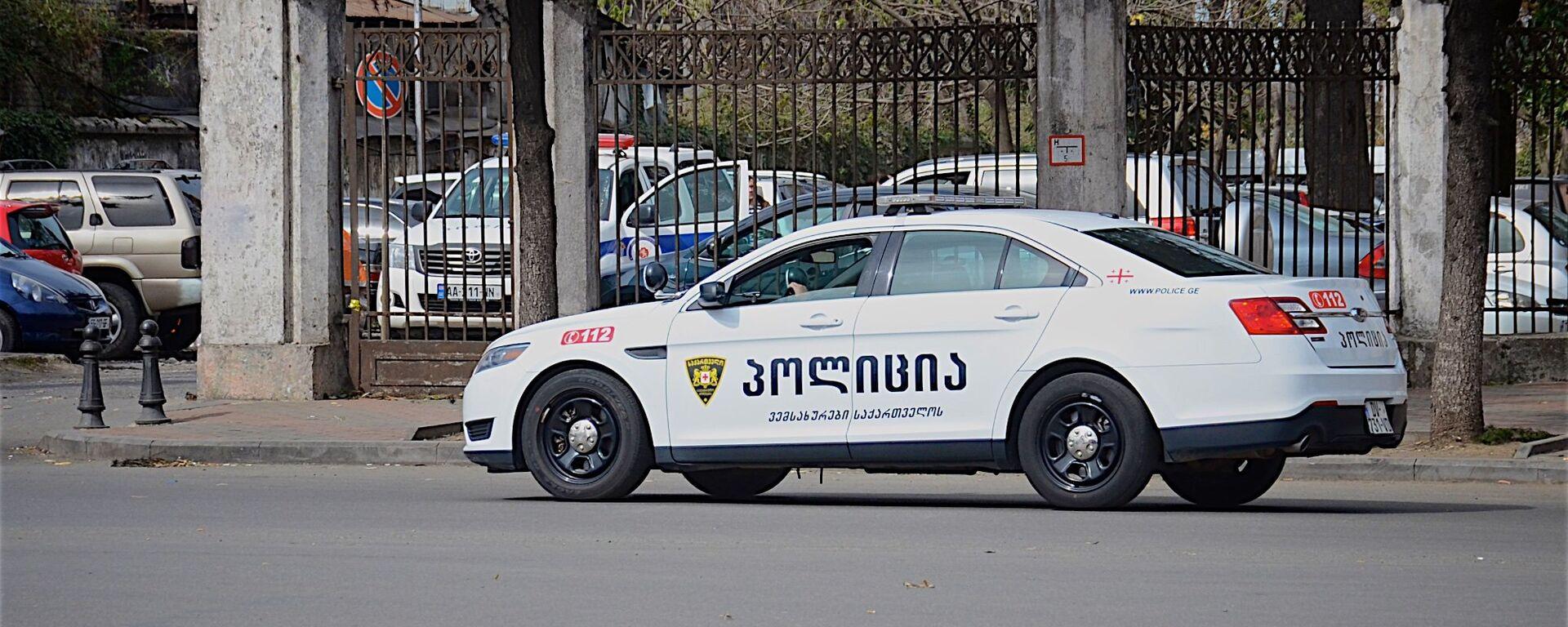 პოლიციის მანქანა - Sputnik საქართველო, 1920, 19.06.2021