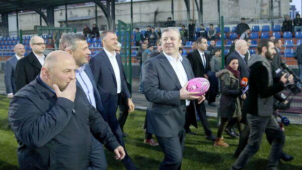 Премьер-министр Грузии Георгий Квирикашвили осмотрел новую регбийную базу в Батуми - Sputnik Грузия