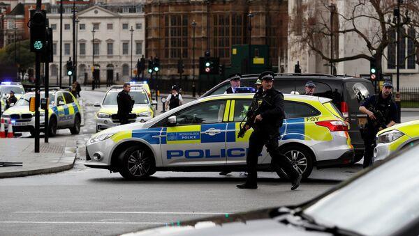 ლონდონის პოლიცია უესტმინსტერის ხიდთან - Sputnik საქართველო