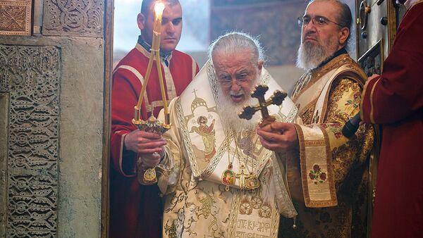 Католикос-Патриарх Всея Грузии Илия Второй проводит богослужение - Sputnik Грузия
