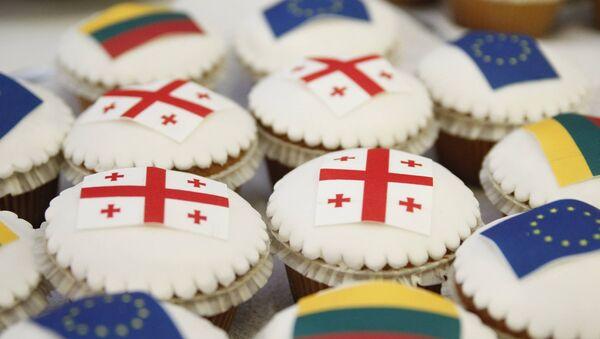 Кексики с флагами ЕС, Литвы и Грузии - Sputnik Грузия