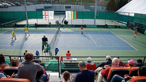 Парная встреча сборных Грузии и Литвы по теннису в рамках Кубка Дэвиса - Sputnik Грузия