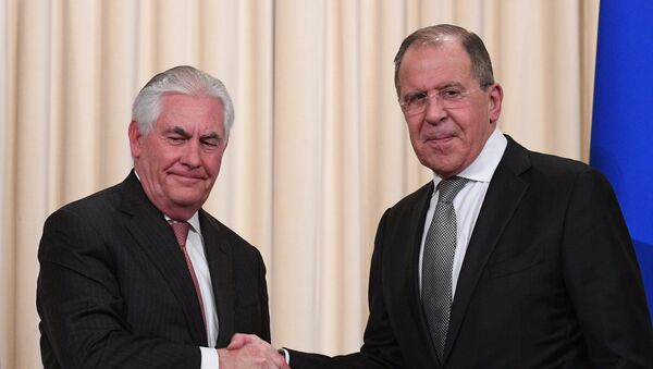 Госсекретарь США Рекс Тиллерсон и министра иностранных дел РФ Сергей Лавров - Sputnik Грузия