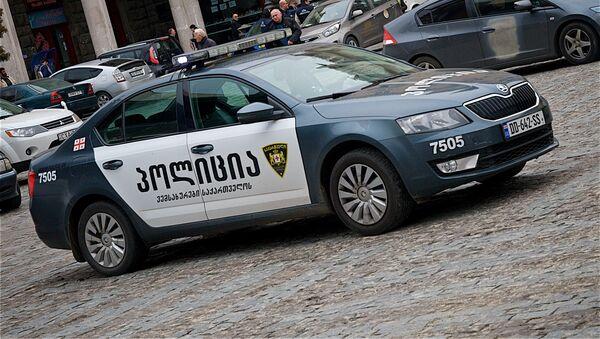 პოლიციის ავტომობილი თბილისის ცენტრში - Sputnik საქართველო