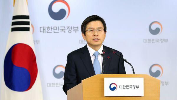 სამხრეთ კორეის პრეზიდენტის მოვალეობის დროებითი შემსრულებელი, პრემიერ-მინისტრი ჰვან კიო-ანი - Sputnik საქართველო