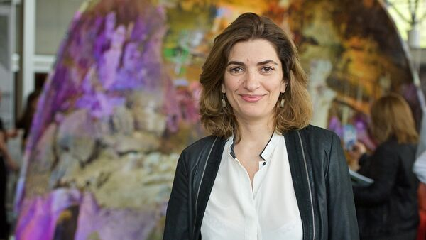 Представитель выставочного центра Нино Гамрекели - Sputnik Грузия