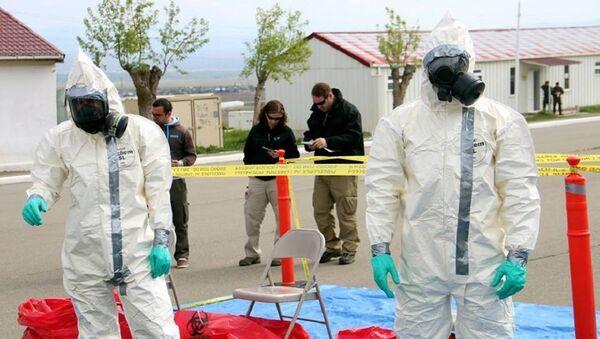 """სწავლება """"""""ქიმიური, ბიოლოგიური და რადიაციული საფრთხეების აღმოჩენა და მათზე რეაგირება"""" - Sputnik საქართველო"""