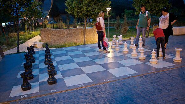 ჭადრაკის დაფა რიყის პარკში - Sputnik საქართველო