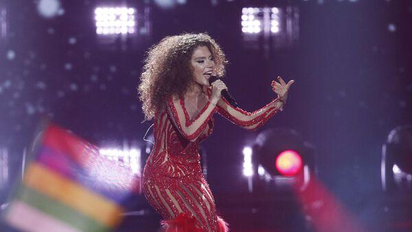 Тамара Гачечиладзе из Грузии во время полуфинала конкурса «Евровидение-2017» 1 в Киеве, Украина - Sputnik Грузия