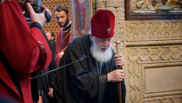 Католикос Патриарх Всея Грузии Илия Второй на праздничной службе в Сиони - Sputnik Грузия