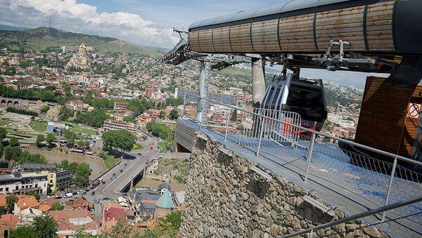 Верхняя станция тбилисской канатки у крепости Нарикала - Sputnik Грузия