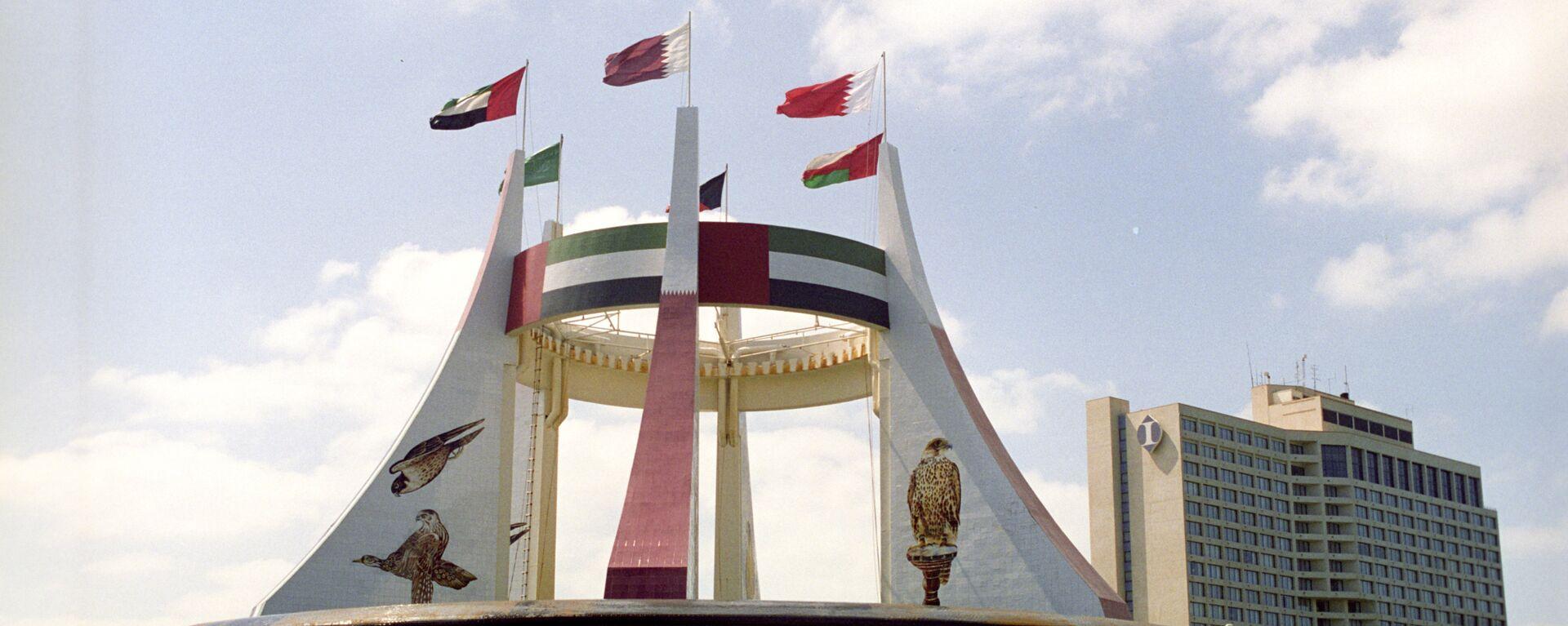 Памятник в честь создания независимого федеративного государства Объединенных Арабских Эмиратов - Sputnik Грузия, 1920, 20.09.2021