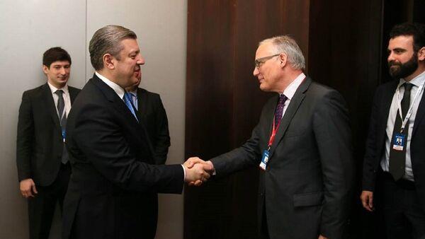 Премьер министр Грузии Георгий Квирикашвили и его словацкий коллега Роберт Фицо - Sputnik Грузия