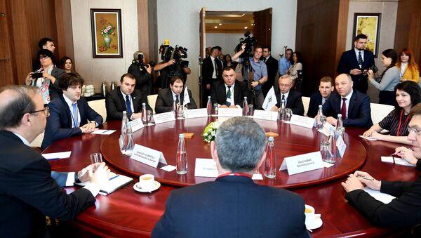 Встреча глав парламентов Грузии и Украины, а также президента ПА НАТО Паоло Алли - Sputnik Грузия