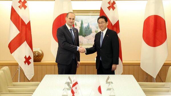 Встреча министра иностранных дел Грузии Михаила Джанелидзе с его японским коллегой Фумио Кисида - Sputnik Грузия