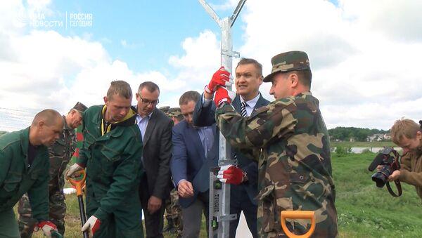 Строительство забора на границе Литвы с Россией - Sputnik Грузия