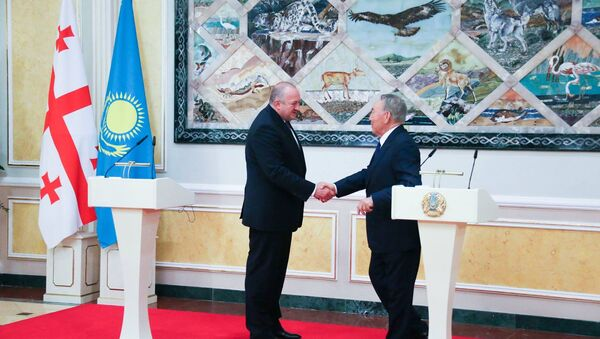 Георгий Маргвелашвили и Нурсултан Назарбаев - Sputnik Грузия