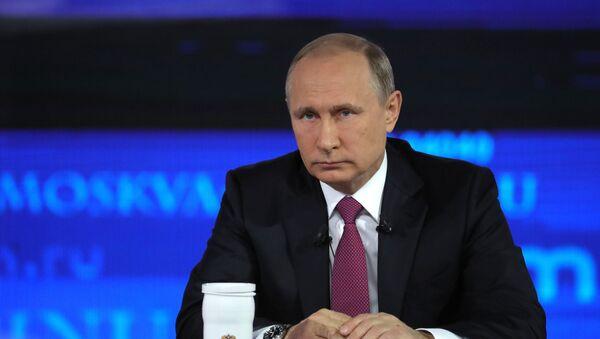 Прямая линия с президентом РФ В. Путиным - Sputnik Грузия