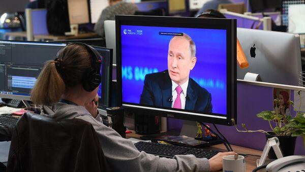 Трансляция Прямой линии с Владимиром Путиным - Sputnik Грузия