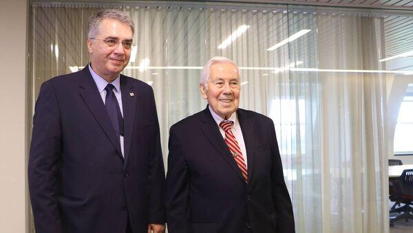 Давид Сергеенко и Ричард Лугар - Sputnik Грузия