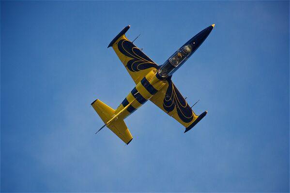 Впечатляющие фигуры высшего пилотажа выполняли летчики из пилотажной группы Baltic Bees - Sputnik Грузия